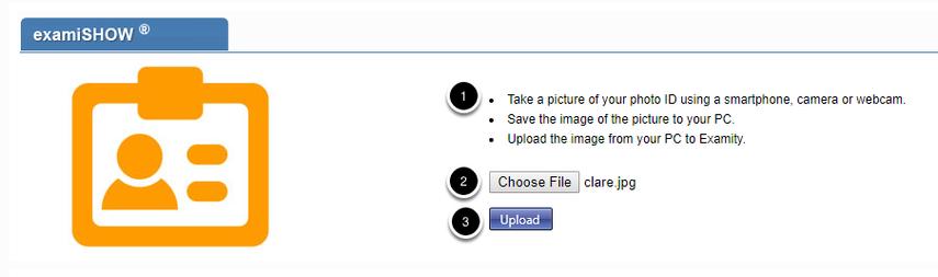 Upload a photo ID
