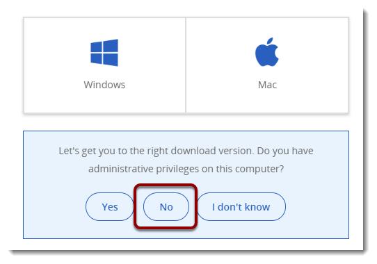 No button selected
