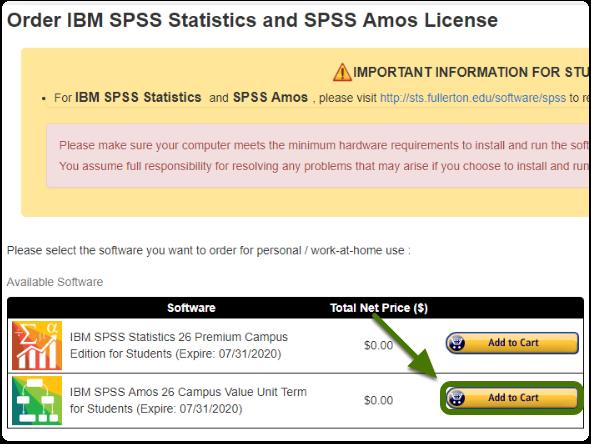 Order IBM SPSS license