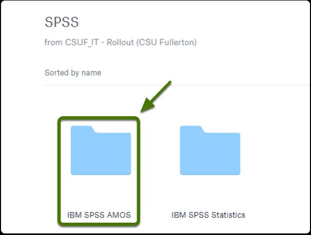 SPSS Dropbox folder