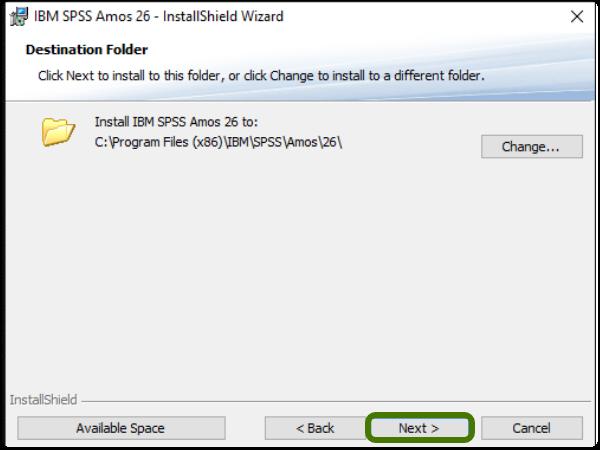 installation folder