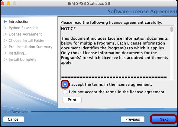accept software agreement