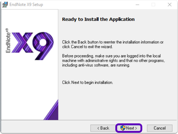 ready to install application