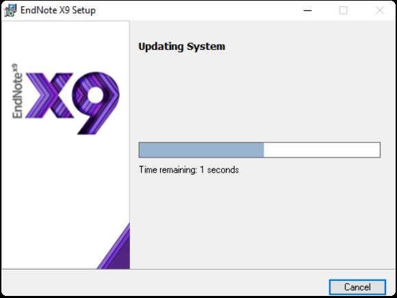 updating system progress bar