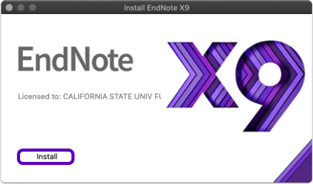Install EndNote