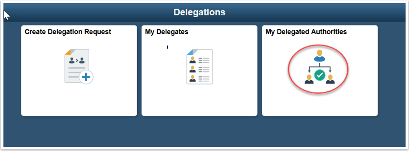My Delegated Authorities tile