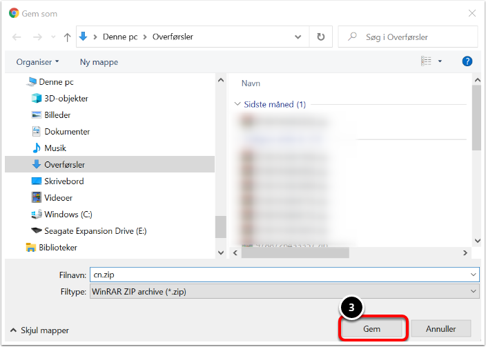 Fildeling – Google Chrome