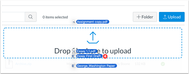 Drag and Drop Multiple Files