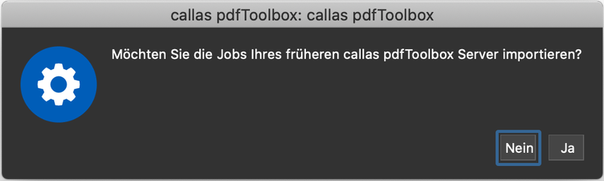 Jobs aus Vorversion importieren