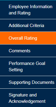 Overall Rating tab
