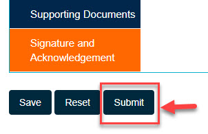 Arrow button pointing to Submit button