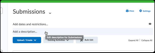 Click Add description in module