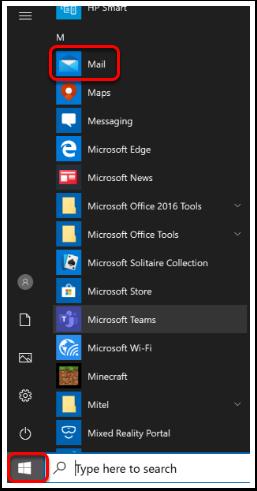 Open Windows 10 Mail