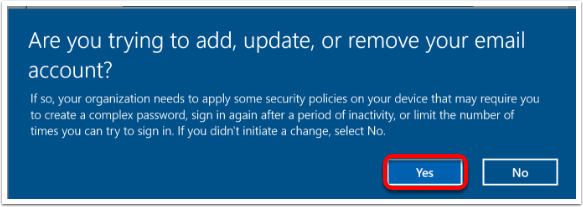 Add, update or remove account page