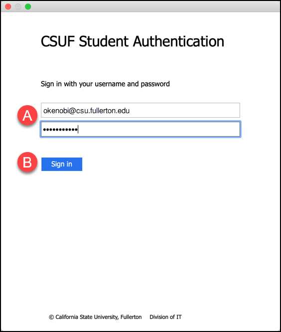 CSUF Student Authentication