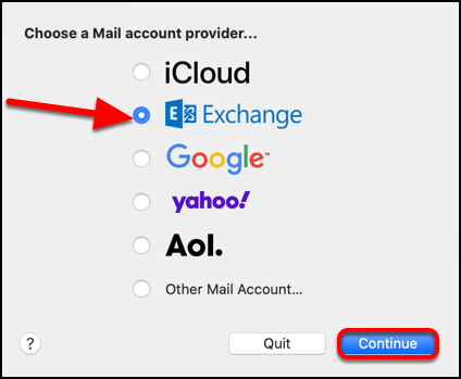 choose mail provider
