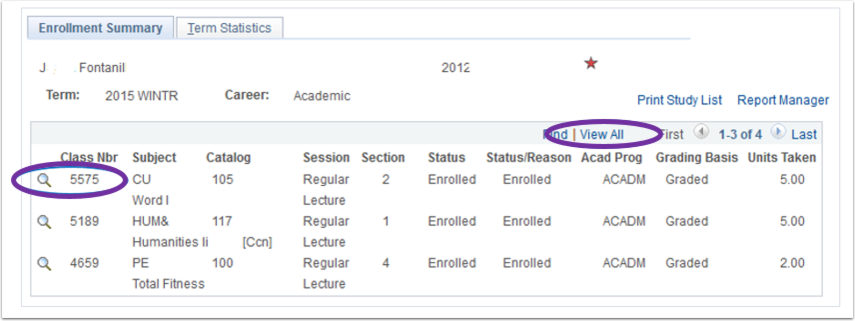 Example of the Enrollment Summary Image