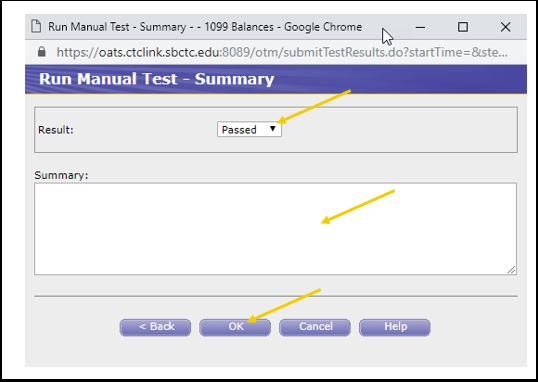Run Manual Test Summary Image