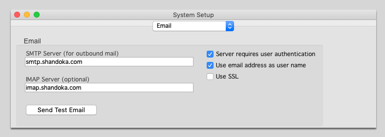 Email Setup for SMTP Mail