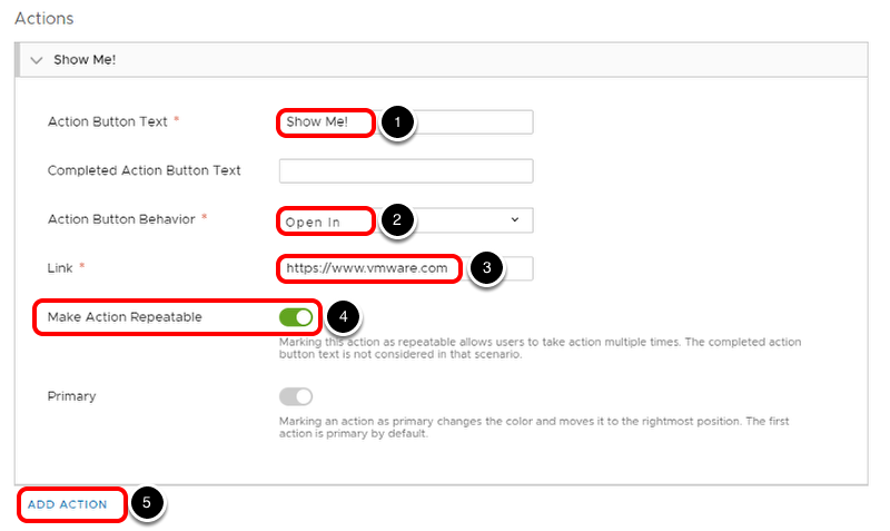 Configure Notification Actions in Workspace ONE Hub Services