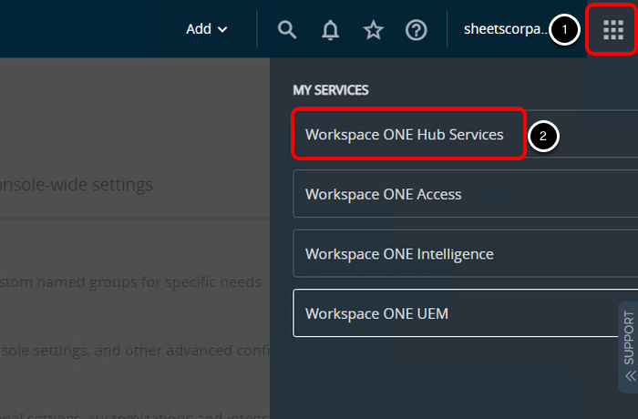 Enable Workspace ONE Hub Services in Workspace ONE UEM Admin Console