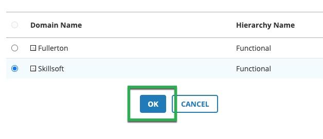 Box highlighting Ok button