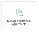 Manage and track all agreements button