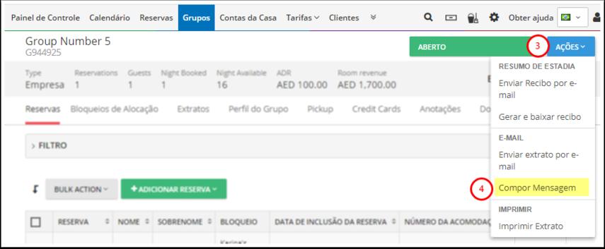 RB Hotel - Central de Grupos - Google Chrome