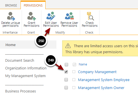 Permissions: Organization Information - Google Chrome