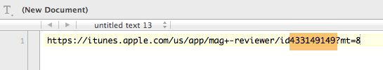 Paste the link in a text document.