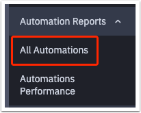 All Automations report tab