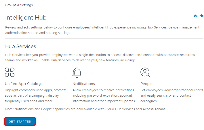 Get Started with Workspace ONE Hub Services
