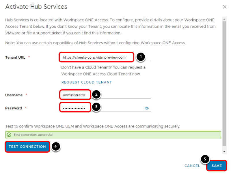 Activate Workspace ONE Hub Services