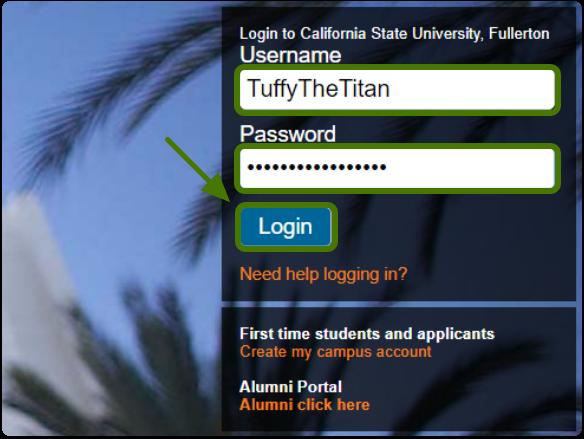 CSUF portal login