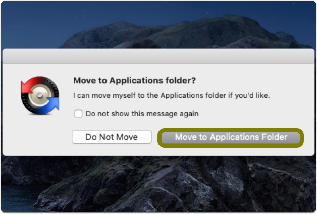move to applications folder pop up