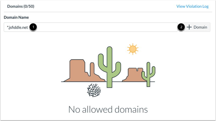 Add Domain to Allowed Domains