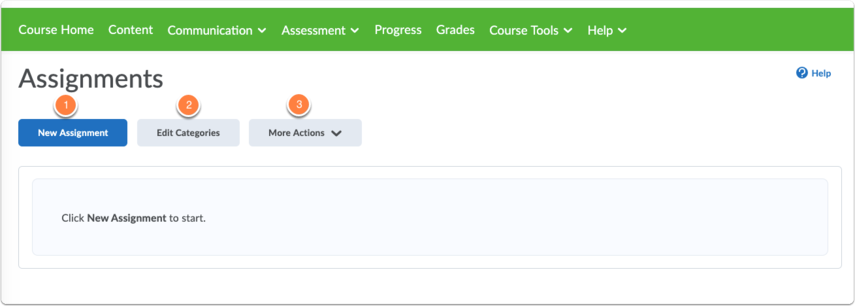 Assignments homepage