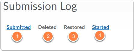 Assignments - Submission Log - options