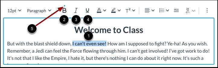 Formater le texte