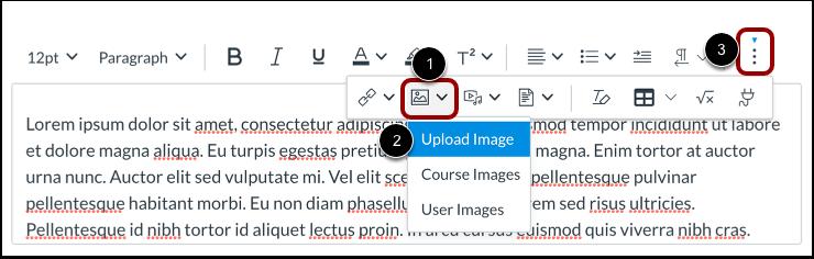 Abrir ferramenta do carregador de imagens