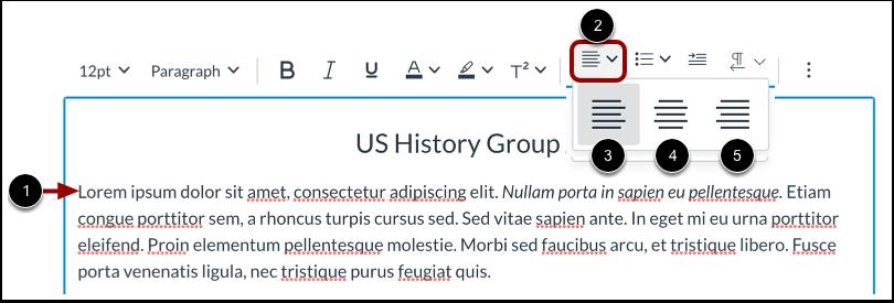 Align Text