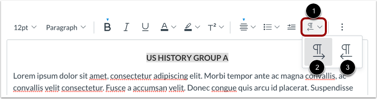 Align Directional Text