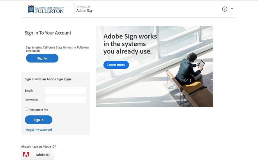 AdobeSign Dashboard Overview
