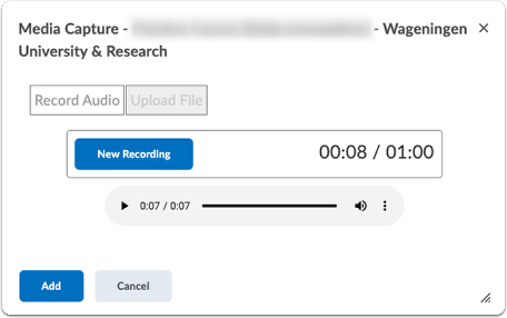 Submission - Record Audio - add file