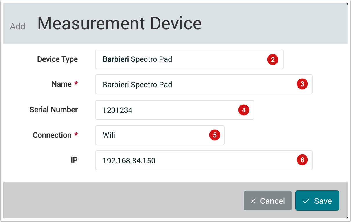 PMS WebGui :: Measurement Devices