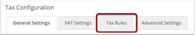 Click the Tax Rules tab