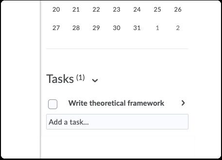 Tasks - create a task