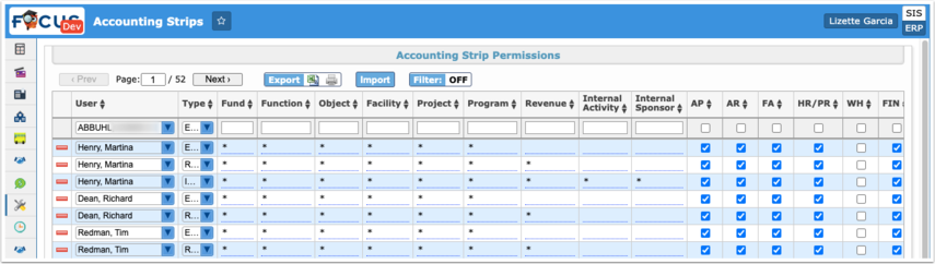 Accounting Strips