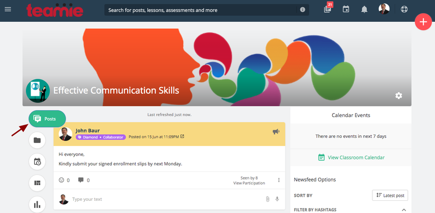 Newsfeed | Effective Communication Skills | Teamie Next