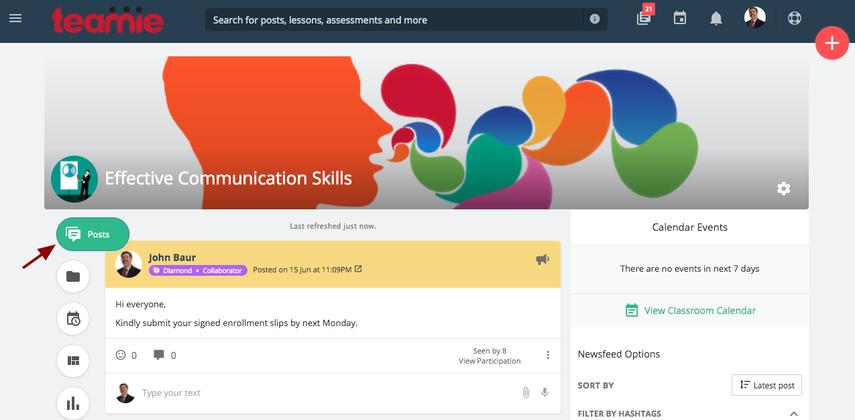 Newsfeed | Effective Communication Skills | Teamie Next